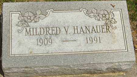 HANAUER, MILDRED V - Montgomery County, Ohio | MILDRED V HANAUER - Ohio Gravestone Photos