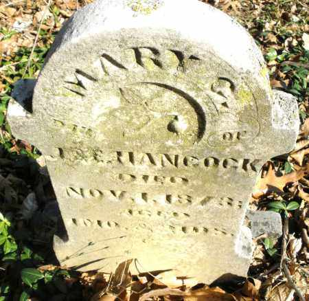 HANCOCK, MARY G, - Montgomery County, Ohio | MARY G, HANCOCK - Ohio Gravestone Photos