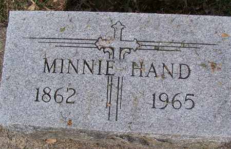 HAND, MINNIE - Montgomery County, Ohio | MINNIE HAND - Ohio Gravestone Photos