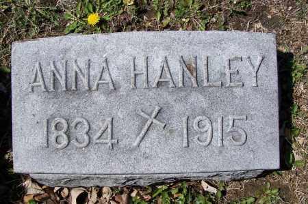 HANLEY, ANNA - Montgomery County, Ohio | ANNA HANLEY - Ohio Gravestone Photos