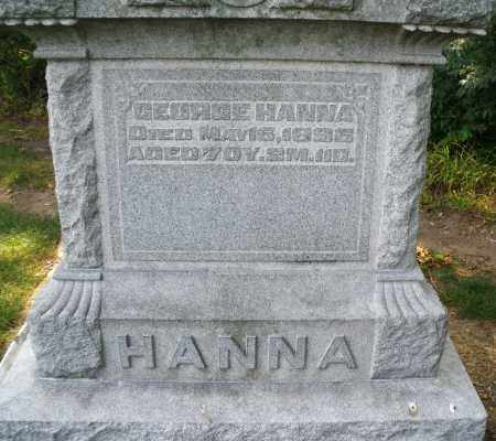 HANNA, GEORGE - Montgomery County, Ohio | GEORGE HANNA - Ohio Gravestone Photos