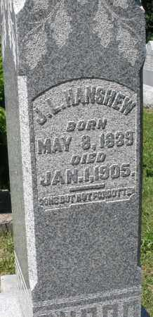 HANSHEW, J. L. - Montgomery County, Ohio | J. L. HANSHEW - Ohio Gravestone Photos