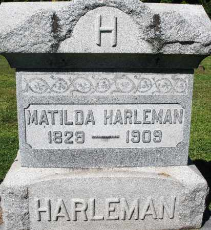 HARLEMAN, MATILDA - Montgomery County, Ohio | MATILDA HARLEMAN - Ohio Gravestone Photos