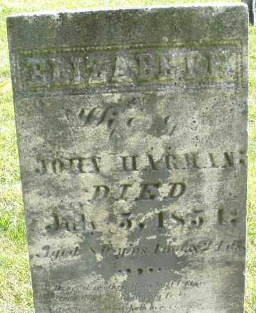 HARMAN, ELIZABETH - Montgomery County, Ohio | ELIZABETH HARMAN - Ohio Gravestone Photos