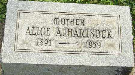 HARTSOCK, ALICE A - Montgomery County, Ohio | ALICE A HARTSOCK - Ohio Gravestone Photos