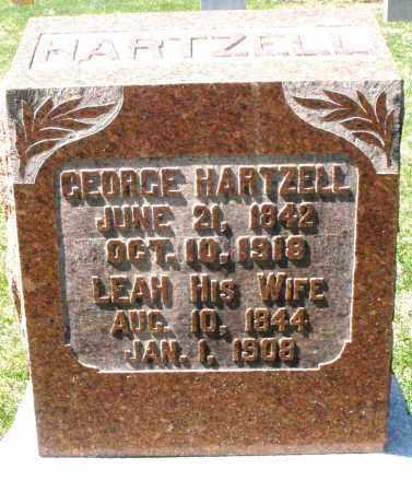 HARTZELL, LEAH - Montgomery County, Ohio | LEAH HARTZELL - Ohio Gravestone Photos