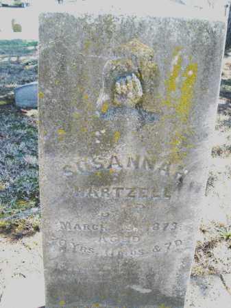 HARTZELL, SUSANNAH - Montgomery County, Ohio | SUSANNAH HARTZELL - Ohio Gravestone Photos