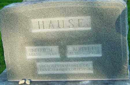 HAUSE, ALBERT E - Montgomery County, Ohio | ALBERT E HAUSE - Ohio Gravestone Photos