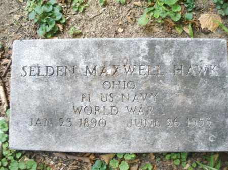 HAWK, SELDEN MAXWELL - Montgomery County, Ohio | SELDEN MAXWELL HAWK - Ohio Gravestone Photos
