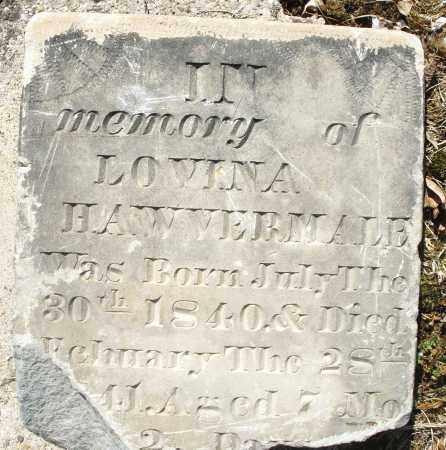 HAWVERMALE, LOVINA - Montgomery County, Ohio | LOVINA HAWVERMALE - Ohio Gravestone Photos