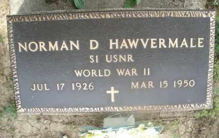HAWVERMALE, NORMAN D. - Montgomery County, Ohio | NORMAN D. HAWVERMALE - Ohio Gravestone Photos