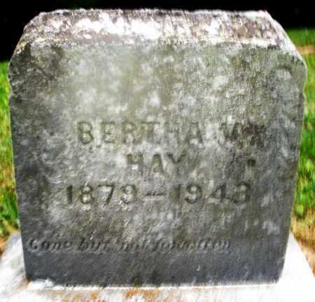 HAY, BERTHA - Montgomery County, Ohio | BERTHA HAY - Ohio Gravestone Photos
