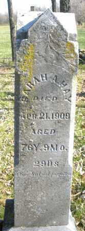 HAY, SARAH ANN - Montgomery County, Ohio | SARAH ANN HAY - Ohio Gravestone Photos