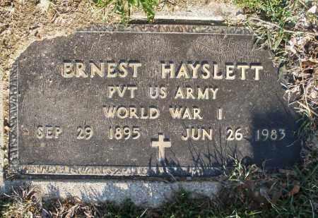 HAYSLETT, ERNEST - Montgomery County, Ohio | ERNEST HAYSLETT - Ohio Gravestone Photos
