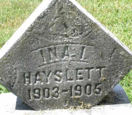 HAYSLETT, INA I. - Montgomery County, Ohio | INA I. HAYSLETT - Ohio Gravestone Photos