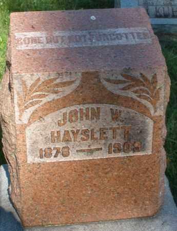 HAYSLETT, JOHN W. - Montgomery County, Ohio | JOHN W. HAYSLETT - Ohio Gravestone Photos