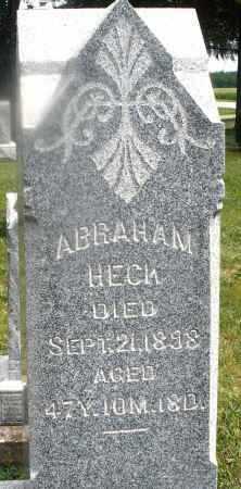 HECK, ABRAHAM - Montgomery County, Ohio | ABRAHAM HECK - Ohio Gravestone Photos