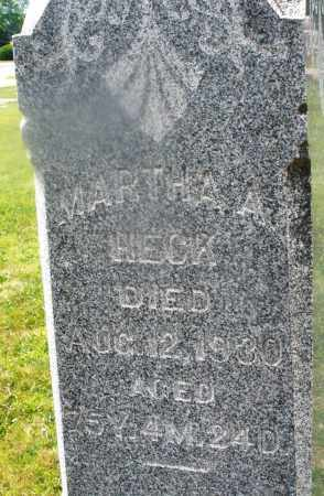 HECK, MARTHA A. - Montgomery County, Ohio | MARTHA A. HECK - Ohio Gravestone Photos