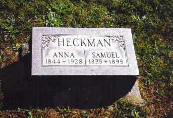 HECKMAN, ANNA - Montgomery County, Ohio | ANNA HECKMAN - Ohio Gravestone Photos
