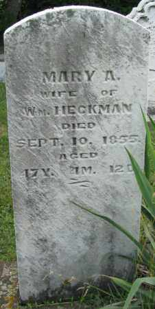 HECKMAN, MARY ANN - Montgomery County, Ohio | MARY ANN HECKMAN - Ohio Gravestone Photos
