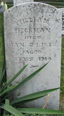 HECKMAN, WILLIAM H. - Montgomery County, Ohio | WILLIAM H. HECKMAN - Ohio Gravestone Photos