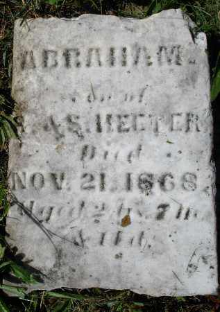 HEETER, ABRAHAM - Montgomery County, Ohio | ABRAHAM HEETER - Ohio Gravestone Photos