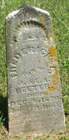 HEETER, FREDERICK - Montgomery County, Ohio | FREDERICK HEETER - Ohio Gravestone Photos