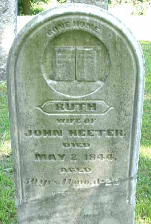 HEETER, RUTH - Montgomery County, Ohio | RUTH HEETER - Ohio Gravestone Photos