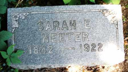 HEETER, SARAH E. - Montgomery County, Ohio | SARAH E. HEETER - Ohio Gravestone Photos