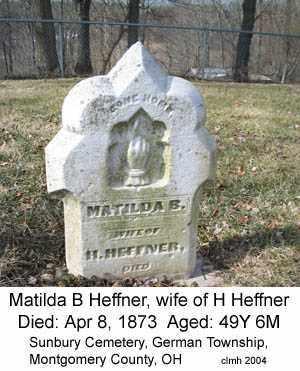 HEFFNER, MATILDA B - Montgomery County, Ohio | MATILDA B HEFFNER - Ohio Gravestone Photos