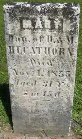 HEGATHORN, MARY - Montgomery County, Ohio | MARY HEGATHORN - Ohio Gravestone Photos