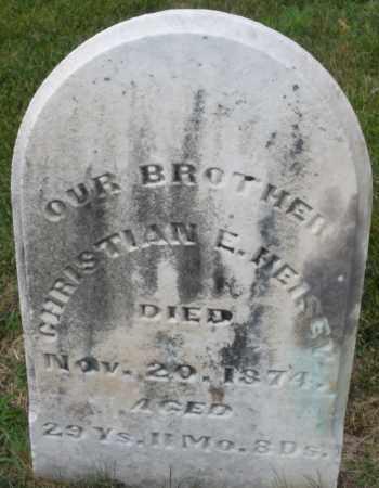 HEISEY, CHRISTIAN E. - Montgomery County, Ohio   CHRISTIAN E. HEISEY - Ohio Gravestone Photos