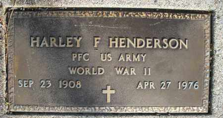 HENDERSON, HARLEY F. - Montgomery County, Ohio | HARLEY F. HENDERSON - Ohio Gravestone Photos
