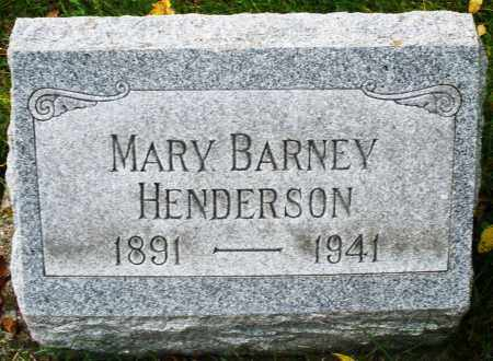 BARNEY HENDERSON, MARY - Montgomery County, Ohio | MARY BARNEY HENDERSON - Ohio Gravestone Photos