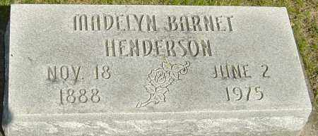 BARNET HENDERSON, MADELYN - Montgomery County, Ohio | MADELYN BARNET HENDERSON - Ohio Gravestone Photos