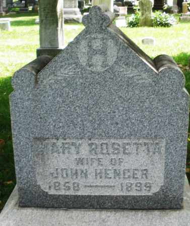 HENGER, MARY ROSETTA - Montgomery County, Ohio   MARY ROSETTA HENGER - Ohio Gravestone Photos