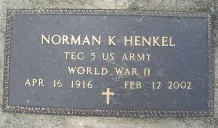 HENKEL, NORMAN K. - Montgomery County, Ohio | NORMAN K. HENKEL - Ohio Gravestone Photos