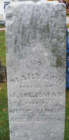 HERMAN, MARY ANN - Montgomery County, Ohio | MARY ANN HERMAN - Ohio Gravestone Photos