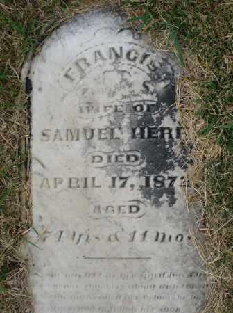 HERR, FRANCIS - Montgomery County, Ohio | FRANCIS HERR - Ohio Gravestone Photos