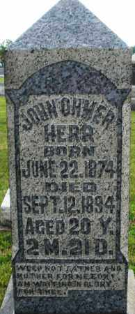 HERR, JOHN OHMER - Montgomery County, Ohio | JOHN OHMER HERR - Ohio Gravestone Photos