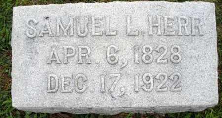 HERR, SAMUEL L. - Montgomery County, Ohio | SAMUEL L. HERR - Ohio Gravestone Photos