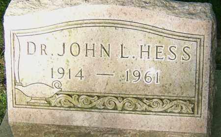 HESS, JOHN L - Montgomery County, Ohio | JOHN L HESS - Ohio Gravestone Photos