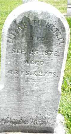 HETZEL, ELIZABETH - Montgomery County, Ohio | ELIZABETH HETZEL - Ohio Gravestone Photos