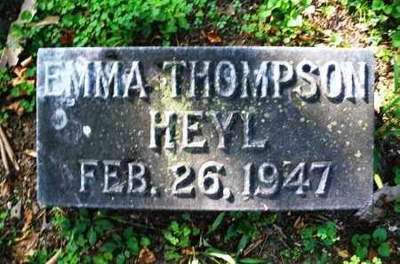 THOMPSON HEYL, EMMA - Montgomery County, Ohio | EMMA THOMPSON HEYL - Ohio Gravestone Photos