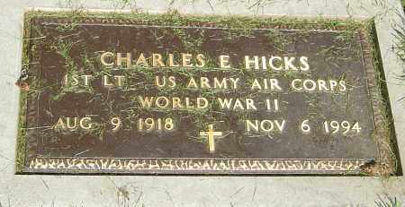 HICKS, CHARLES E - Montgomery County, Ohio | CHARLES E HICKS - Ohio Gravestone Photos