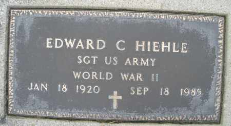 HIEHLE, EDWARD C. - Montgomery County, Ohio | EDWARD C. HIEHLE - Ohio Gravestone Photos