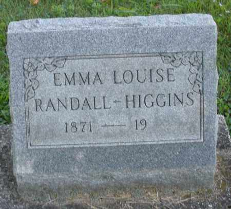 RANDALL HIGGINS, EMMA LOUISE - Montgomery County, Ohio | EMMA LOUISE RANDALL HIGGINS - Ohio Gravestone Photos