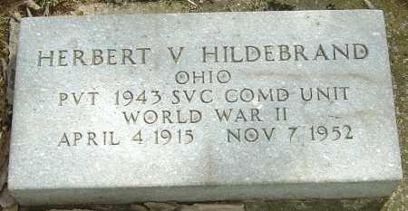 HILDEBRAND, HERBERT V - Montgomery County, Ohio | HERBERT V HILDEBRAND - Ohio Gravestone Photos