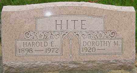HITE, HAROLD E - Montgomery County, Ohio | HAROLD E HITE - Ohio Gravestone Photos