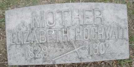 HOCHWALT, ELIZABETH - Montgomery County, Ohio | ELIZABETH HOCHWALT - Ohio Gravestone Photos